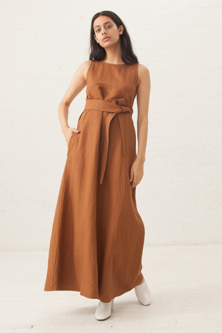 Jesse Kamm The Palma Dress in Clay | Oroboro | New York, NY