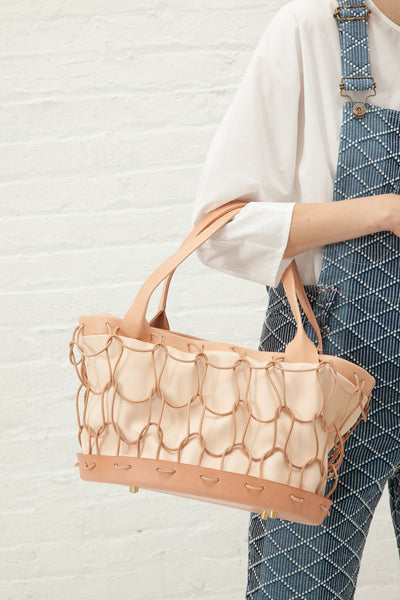 Eatable Of Many Orders Charcuterie Hand Bag in Natural | Oroboro Store | New York, NY