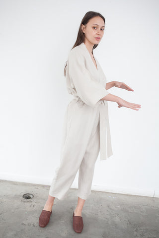 Jesse Kamm The Kimono Jumpsuit in Tan | Oroboro Store | Brooklyn, New York