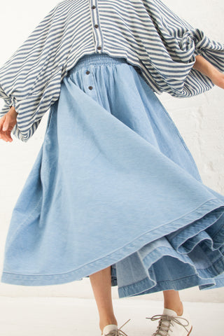 69 Parachute Skirt 8 oz. Denim in Medium Light Wash | Oroboro Store | New York, NY