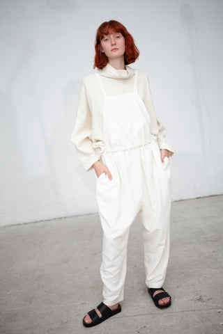 Black Crane Sack Overall in Cream | Oroboro Store | New York, NY