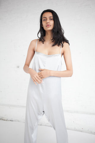 Baserange Shankar Jumpsuit in Silver | Oroboro Store | Brooklyn, New York