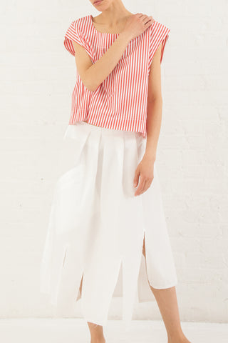 Nancy Stella Soto Plain Weave Cotton Skirt in White | Oroboro Store | New York, NY