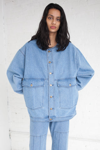69 Jean Jacket in Medium Light Denim | Oroboro Store | Brooklyn, New York