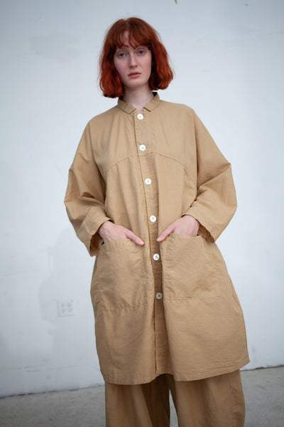 nest Robe Cotton Linen Silk Light Coat in Beige | Oroboro Store | New York, NY