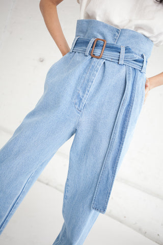 Caron Callahan Dover Pant in Faded Indigo Denim | Oroboro Store | Brooklyn, New York