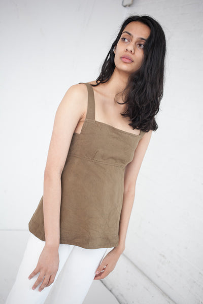 Flora Top in Camel Canvas