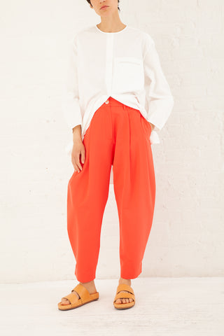 Studio Nicholson Moby Pleat Pant Cotton in Red | Oroboro Store | New York, NY
