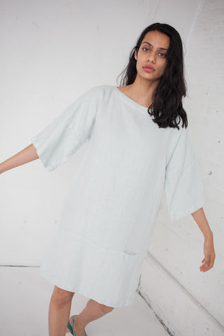 Black Crane Box Long Dress in Aqua | Oroboro Store | Brooklyn, New York