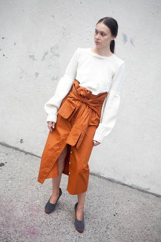 A Detacher Smith Skirt in Rust | Oroboro Store | New York, NY