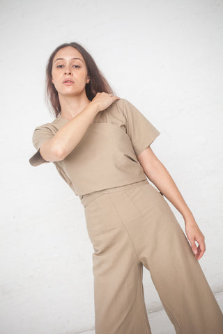 Caron Callahan Cardell Jumpsuit in Farro Cotton Twill | Oroboro Store | New York, NY