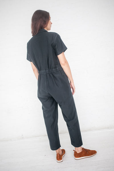 Caron Callahan Zip Foster Jumpsuit in Faded Black | Oroboro Store | New York, NY