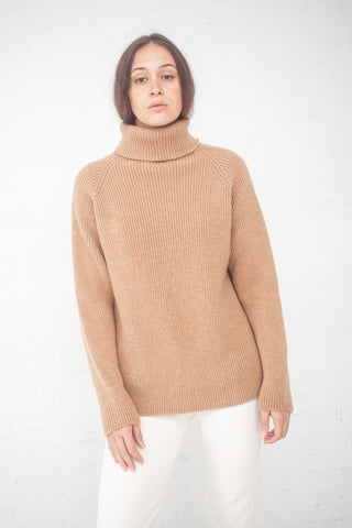 Baserange Troy Turtleneck in Camel / Alpaca