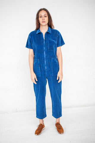 Caron Callahan Zip Foster Jumpsuit in True Indigo | Oroboro Store | New York, NY