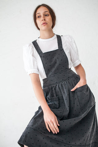 Ulla Johnson Johanna Pinafore in Noir | Oroboro Store | New York, NY