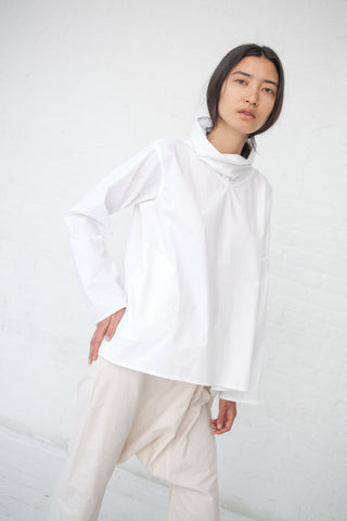Sofie D'Hoore Bright Shirt - Cotton Poplin in Off White | Oroboro Store | New York, NY