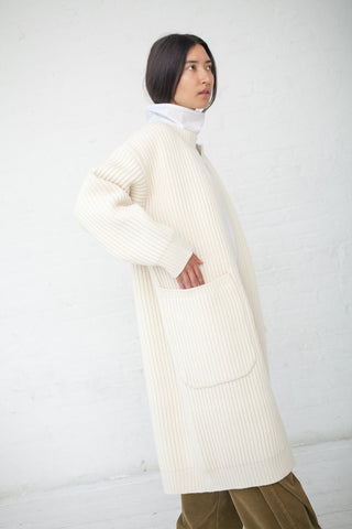 Sofie D'Hoore Minaki Sweater - Lambs Wool in Lily | Oroboro Store | New York, NY
