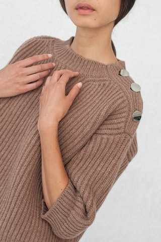Sofie D'Hoore Moore Sweater - Lambs Wool in Sandalwood | Oroboro Store | New York, NY