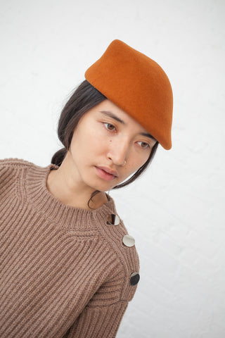 Clyde Sazy Hat Wool Felt in Rust | Oroboro Store | New York, NY