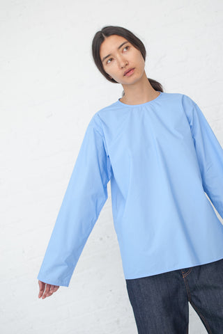 Sofie D'Hoore Baraki Shirt - Cotton Poplin in Light Blue | Oroboro Store | New York, NY