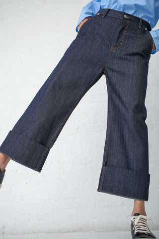 Sofie D'Hoore Plaza Jean - Raw Cotton Denim in  | Oroboro Store | New York, NY