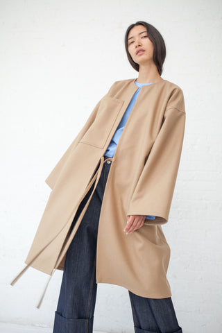 Sofie D'Hoore Carol Coat - Felted Wool in Cork | Oroboro Store | New York, NY