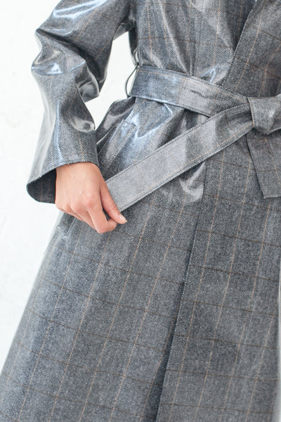 Hache Coat in Grey / Silver | Oroboro Store | New York, NY