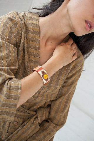 Robin Mollicone Eye Cuff in Yellow Jasper Multi | Oroboro Store | New York, NY