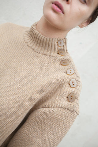 Veronique Leroy Sweater in Beige | Oroboro Store | New York, NY