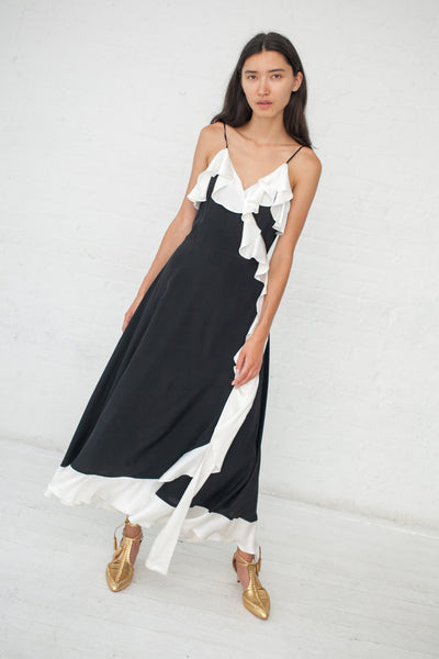 Beatrice Valenzuela Alcatraz Dress in Black/White | Oroboro Store | New York, NY