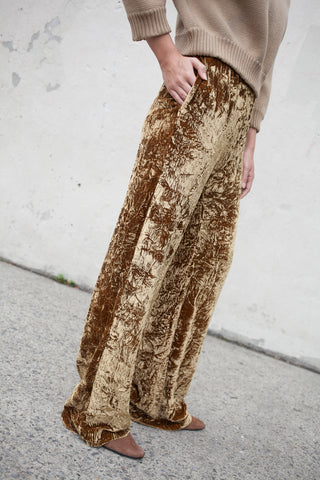 Veronique Leroy Velvet Pants in Camel 24 | Oroboro Store | New York, NY
