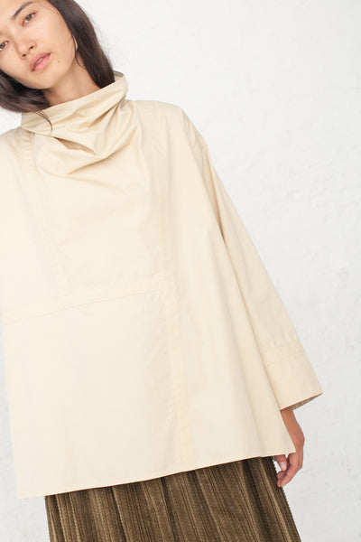 NEHERA Brozo Washed Poplin Shirt in Light Beige | Oroboro Store | New York, NY