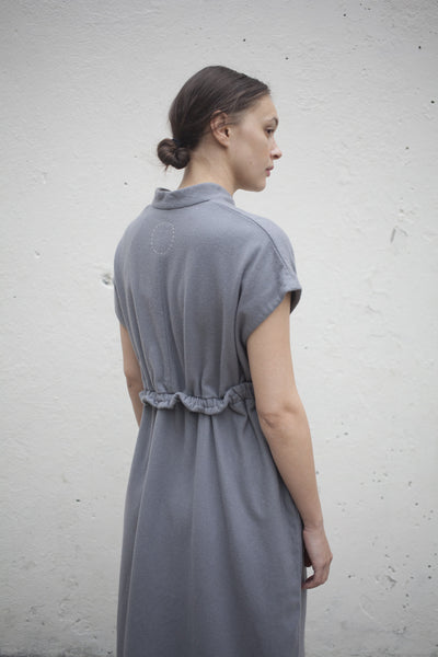 Herbal Dyed Pure Woolen Dress in Natural Grey