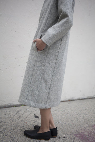 Cosmic Wonder Melton Wool Coat in Grey | Oroboro Store | Brooklyn, New York