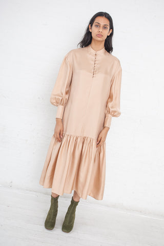 Ryan Roche Oversized Shirt Dress in Buff | Oroboro Store | New York, NY