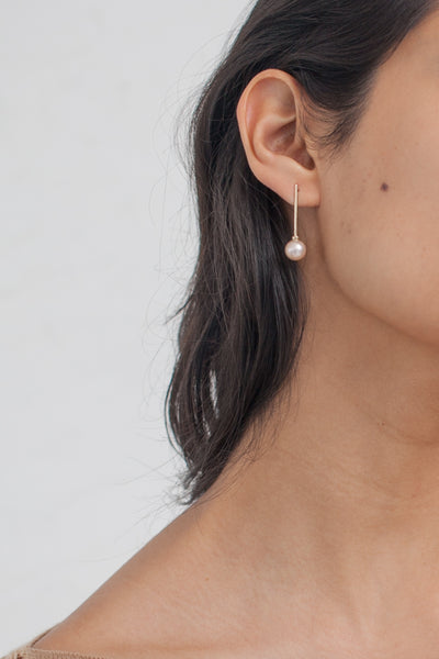 Quarry Quintana Earrings in 14k Gold & Pink Pearl | Oroboro Store | Brooklyn, New York