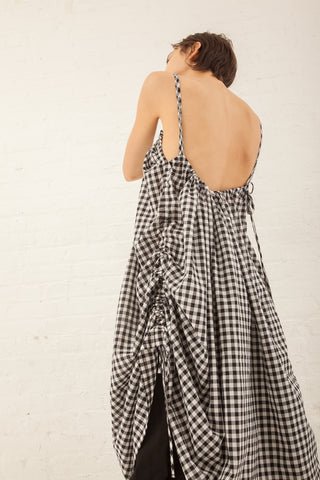 Caron Callahan Anna Dress in Ck & White Gingham | Oroboro Store | New York, NY