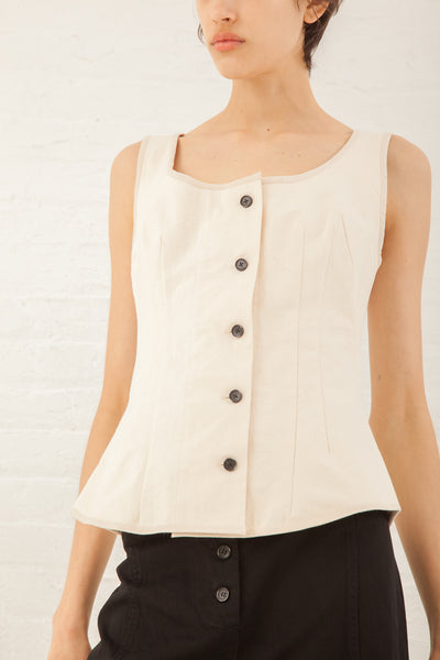 Caron Callahan Ines Vest in Cotton Canvas | Oroboro Store | New York, NY