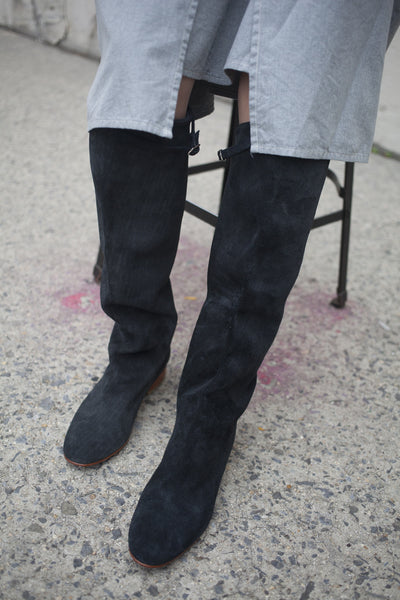 Knee High Skipper Boot in Black