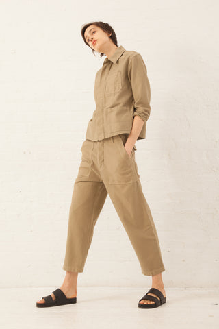 Caron Callahan Howell Pant in Khaki Twill | Oroboro Store | New York, NY