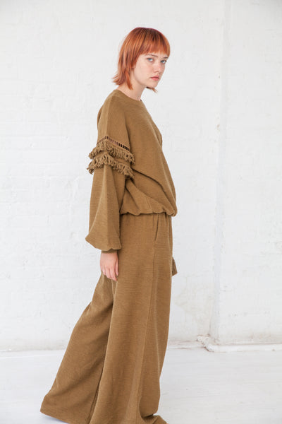 Ulla Johnson Zarina Pullover in Army | Oroboro Store | New York, NY