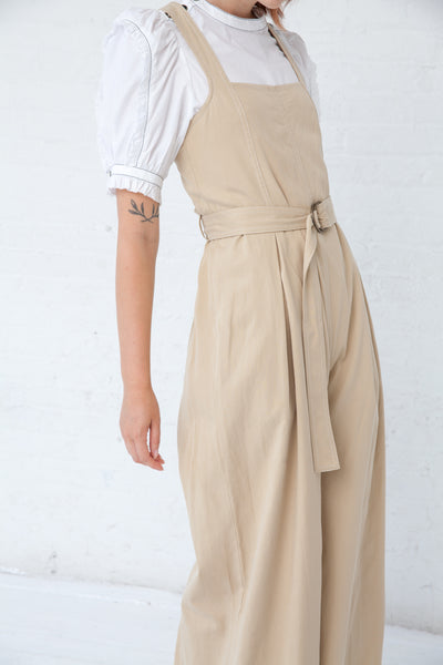 Ulla Johnson Weston Jumpsuit in Khaki | Oroboro Store | New York, NY