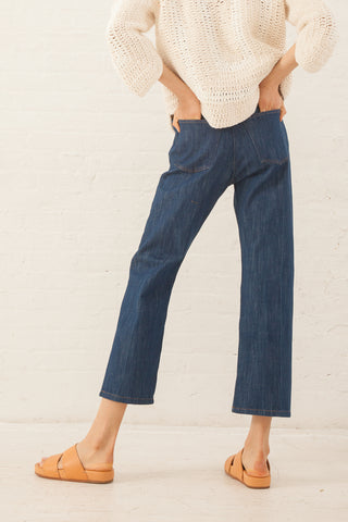 Caron Callahan Joni Jean in Japanese Blue Denim | Oroboro Store | New York, NY