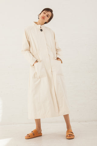 Samuji Knot Cotton Kisho Coat in Ecru | Oroboro Store | New York, NY