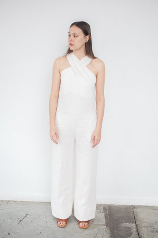 Nomia Overlay Jumpsuit in Ecru | Oroboro Store | Brooklyn, New York