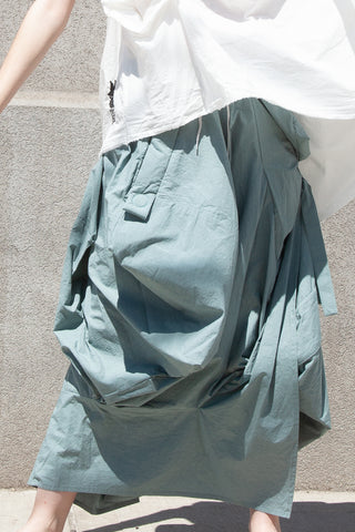 Bernhard Wilhelm Skirt in Jade | Oroboro Store | New York, NY