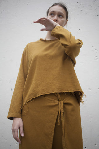 Black Crane Wide Top in Gold Brown | Oroboro Store | Brooklyn, New York