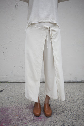 Black Crane Folding Pant in Cream | Oroboro Store | Brooklyn, New York