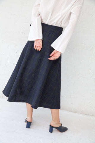 Samuji Coba Skirt in Navy/Dark Green | Oroboro Store | New York, NY