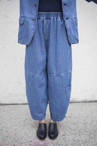 69 Denim Knee Pocket Pants in Medium Wash | Oroboro Store | Brooklyn, New York